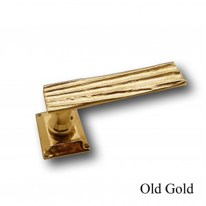 HOLYWOOD DOOR HANDLE PAIR + SPRING ROSACE