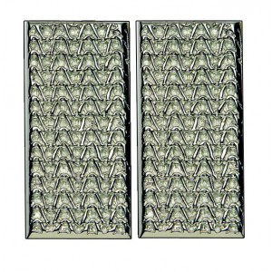 JERSEY pair of rectangle small push/pull plates