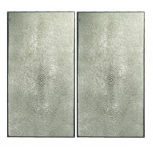 STINGRAY SHAGREEN PAIR RECTANGLE LARGE PLATES